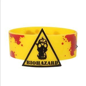 NWT Yellow Biohazard Wristband